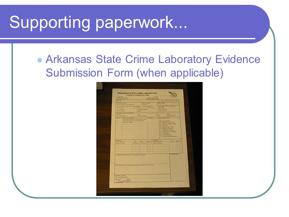 Supporting paperwork... Offense/Incident Report with narrative (copy)