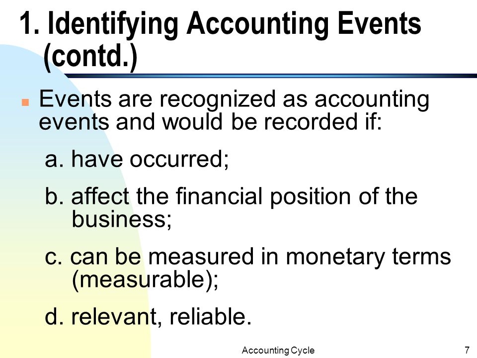 Accounting Cycle47 A.