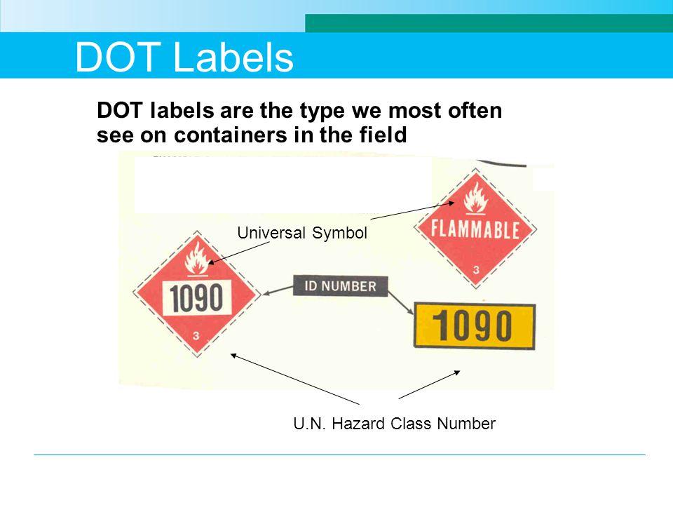 DOT Labels U.N.