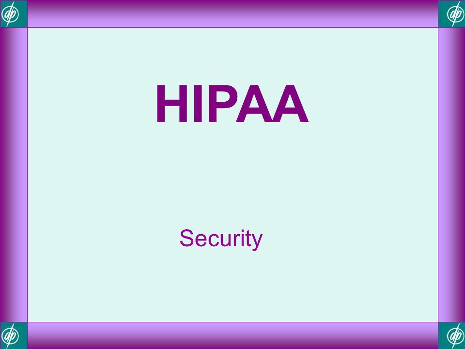 HIPAA Security