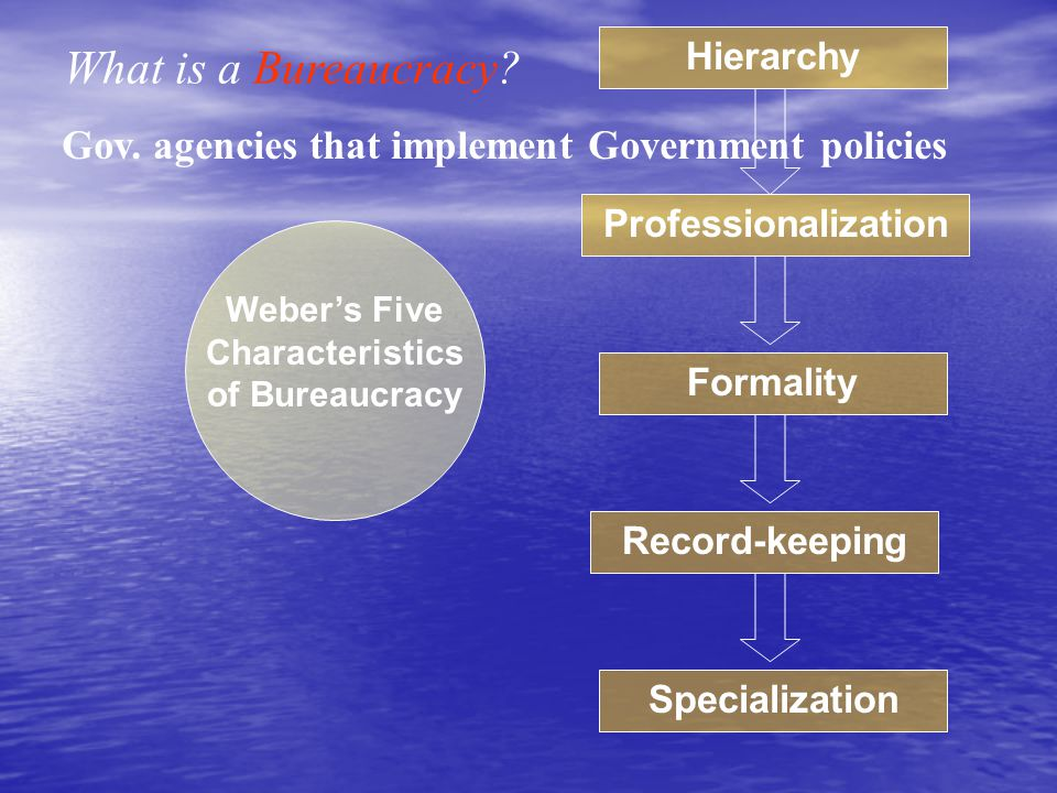 Mission Goals Mission Goals Survival Goals Survival Goals The policy objectives that justify the creation and existence of an agency The desire bureaucrats have to see the agency they work for grow and prosper Two Goals: Goals of the Federal Bureaucracy