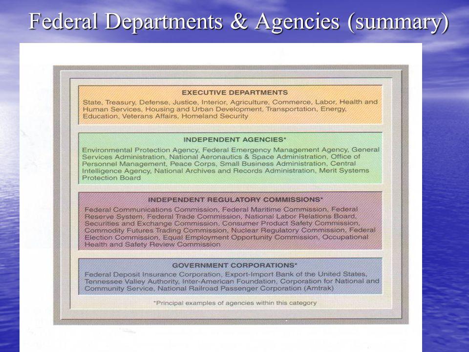 The Tasks of the Federal Bureaucracy Bureaucracies Perform Three Functions: Bureaucracies Perform Three Functions: 1.