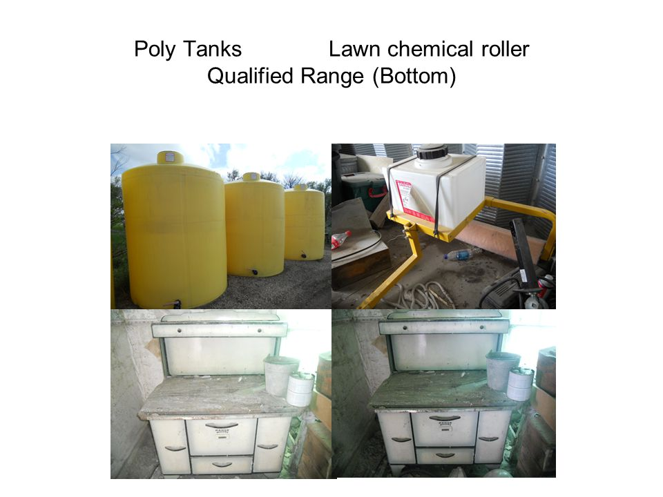 Poly Tanks Lawn chemical roller Qualified Range (Bottom)