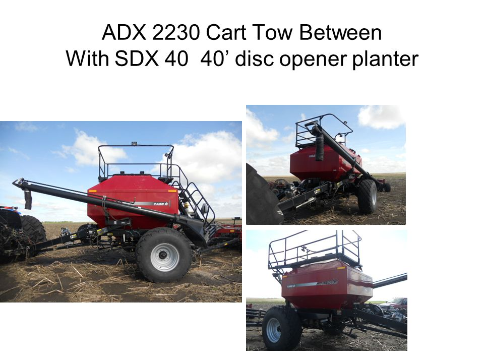 ADX 2230 Cart Tow Between With SDX 40 40 disc opener planter