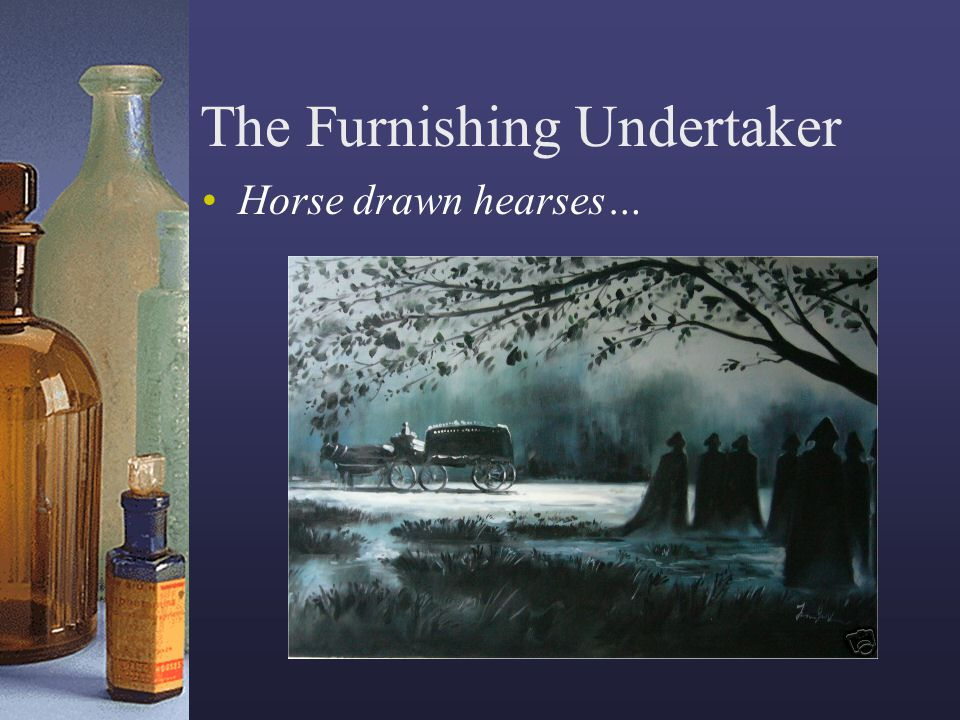 The Furnishing Undertaker Horse drawn hearses…