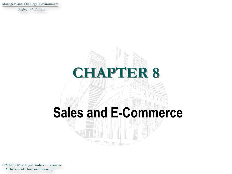 CHAPTER 8 CHAPTER 8 Sales and E-Commerce