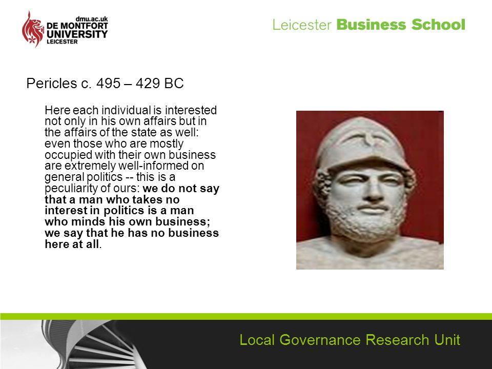 Local Governance Research Unit Pericles c.