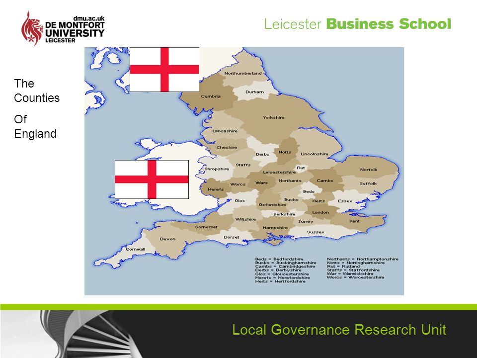 Local Governance Research Unit The Counties Of England