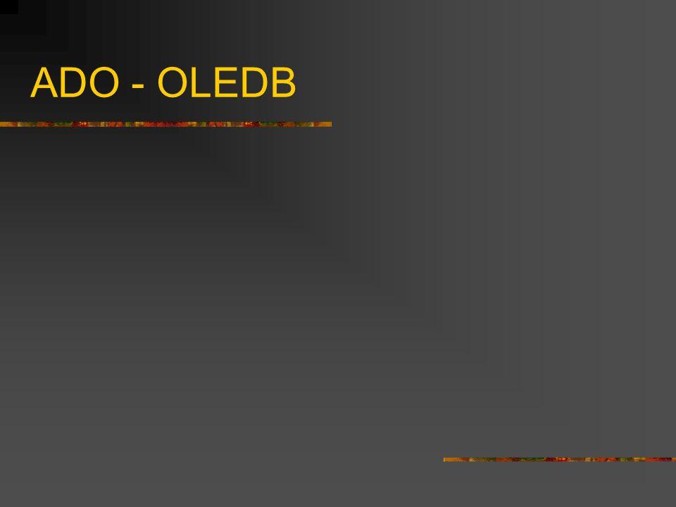 ADO - OLEDB
