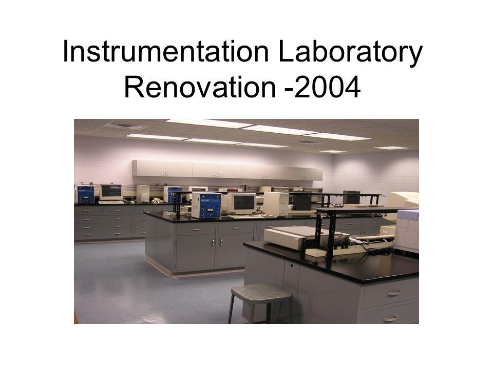 Instrumentation Lab Before Renovation Drab colors & poor lighting