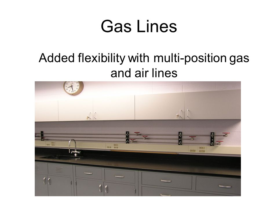 Gas Lines Added flexibility with multi-position gas and air lines