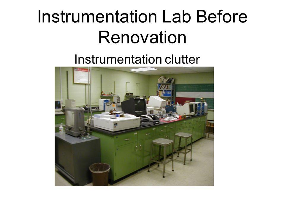 Instrumentation Lab Before Renovation Lack of order