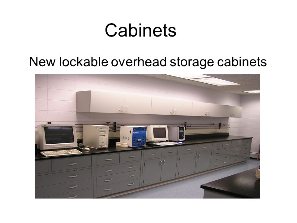 New lockable overhead storage cabinets Cabinets