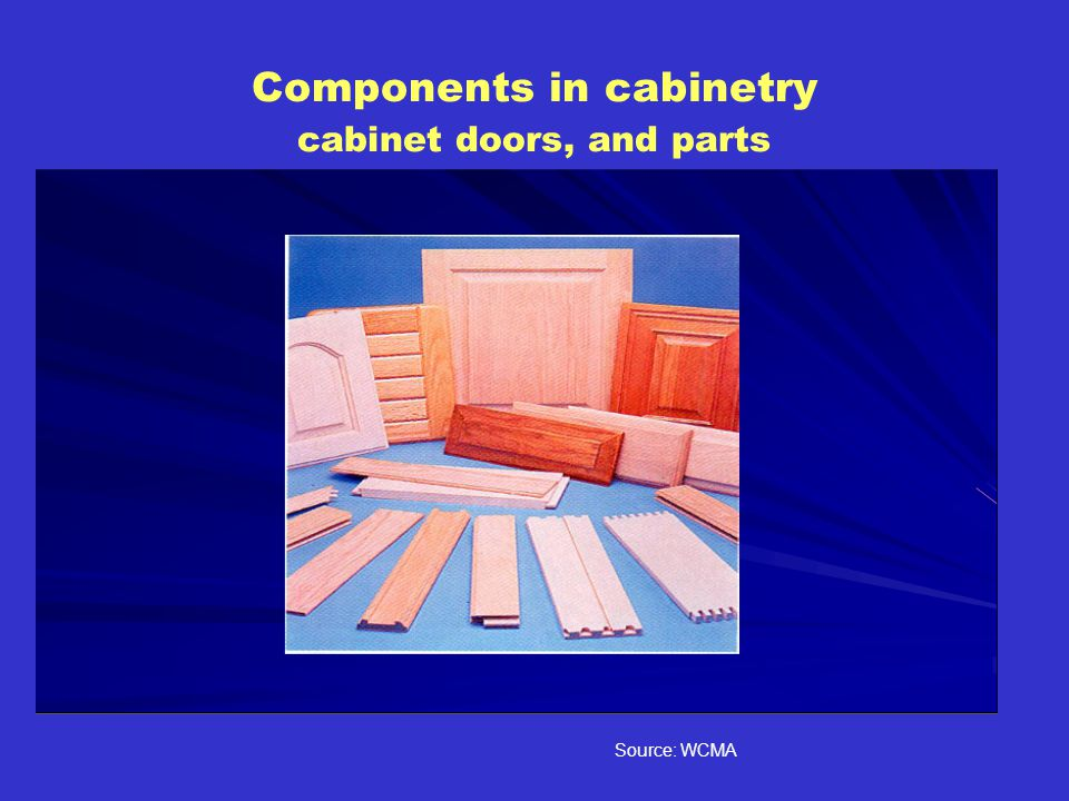 Components in cabinetry cabinet doors, and parts Source: WCMA