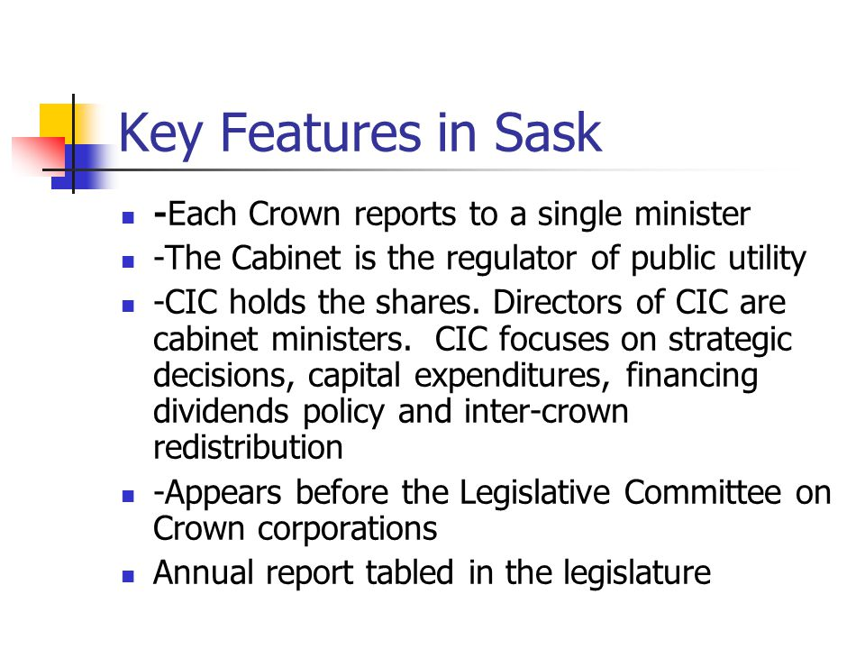 Accountability in Practice How do citizens hold Crown s accountable Monopolies give you little market power Talk to MLA, who may be an opposition Vote against the government What the ultimate owners cannot do is shell their shares buy more shares vote for or against the management at the annual general meeting organise a hostile tender offer to gain legal control