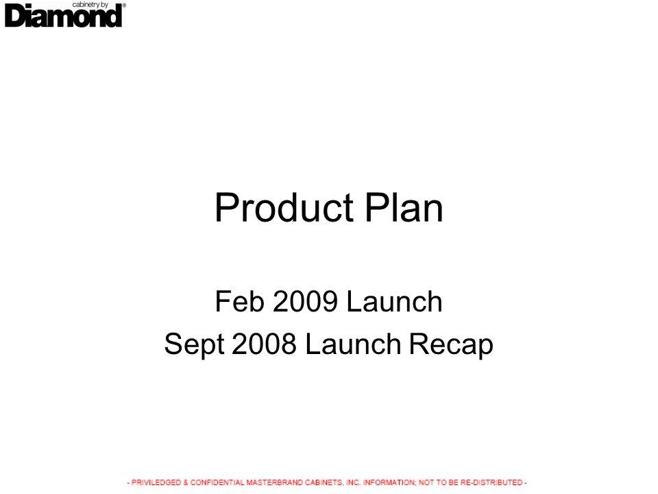 Product Plan Feb 2009 Launch Sept 2008 Launch Recap
