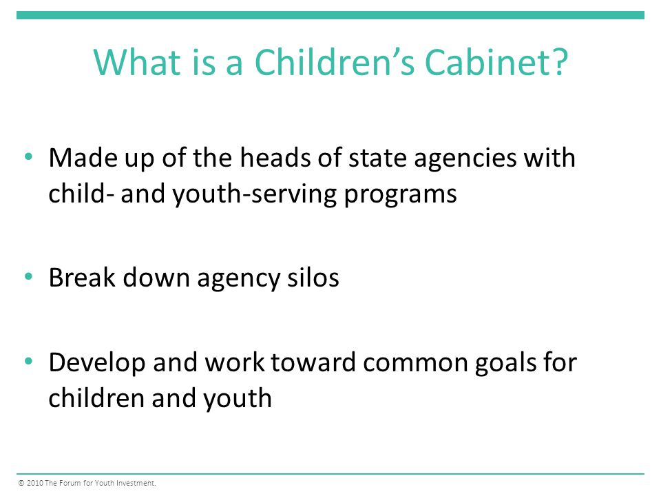 What is a Childrens Cabinet.