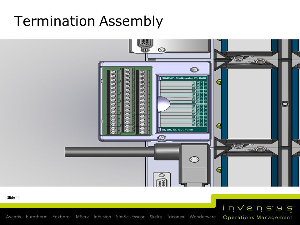 Slide 14 Termination Assembly