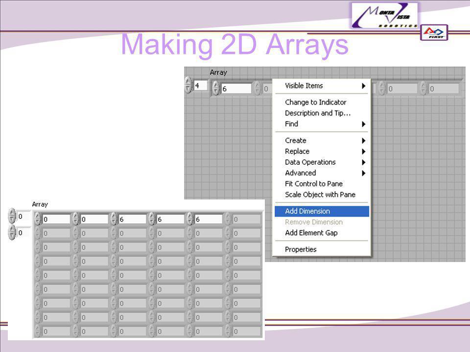 Making 2D Arrays
