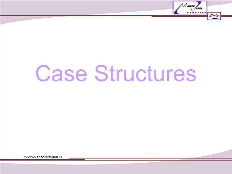 Case structures If a condition is met then do something Simile If _a dog is chasing you_ then _climb a tree_.