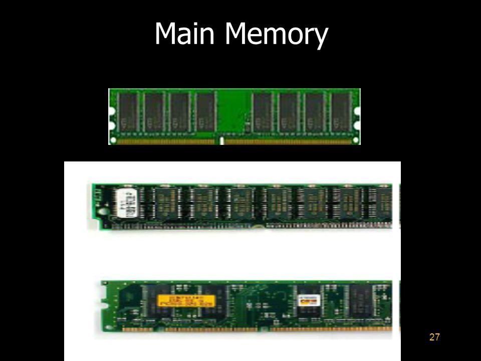 27 Main Memory