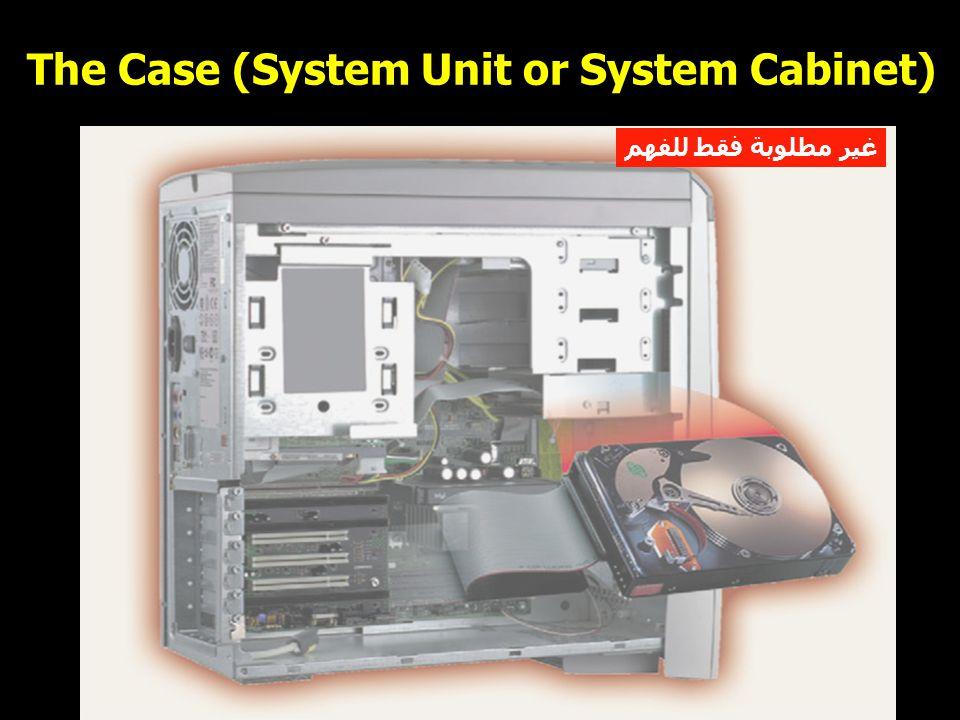 7 The Case (System Unit or System Cabinet) غير مطلوبة فقط للفهم