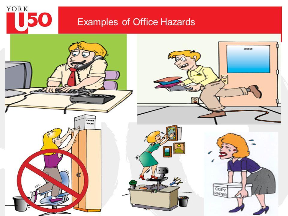 Examples of Office Hazards 17