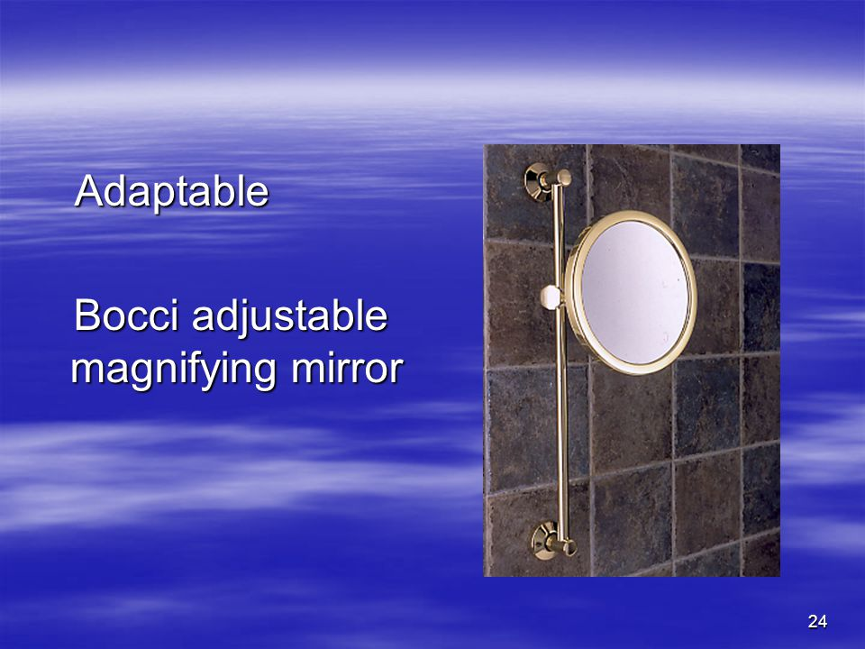 24 Adaptable Adaptable Bocci adjustable magnifying mirror Bocci adjustable magnifying mirror