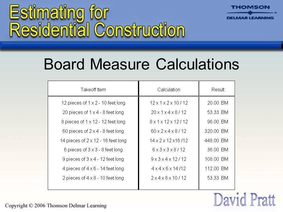 Board Measure Calculations