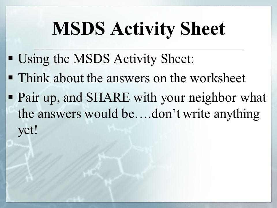 Printables Msds Worksheet Gozoneguide Thousands of Printable – Lab Safety Worksheets