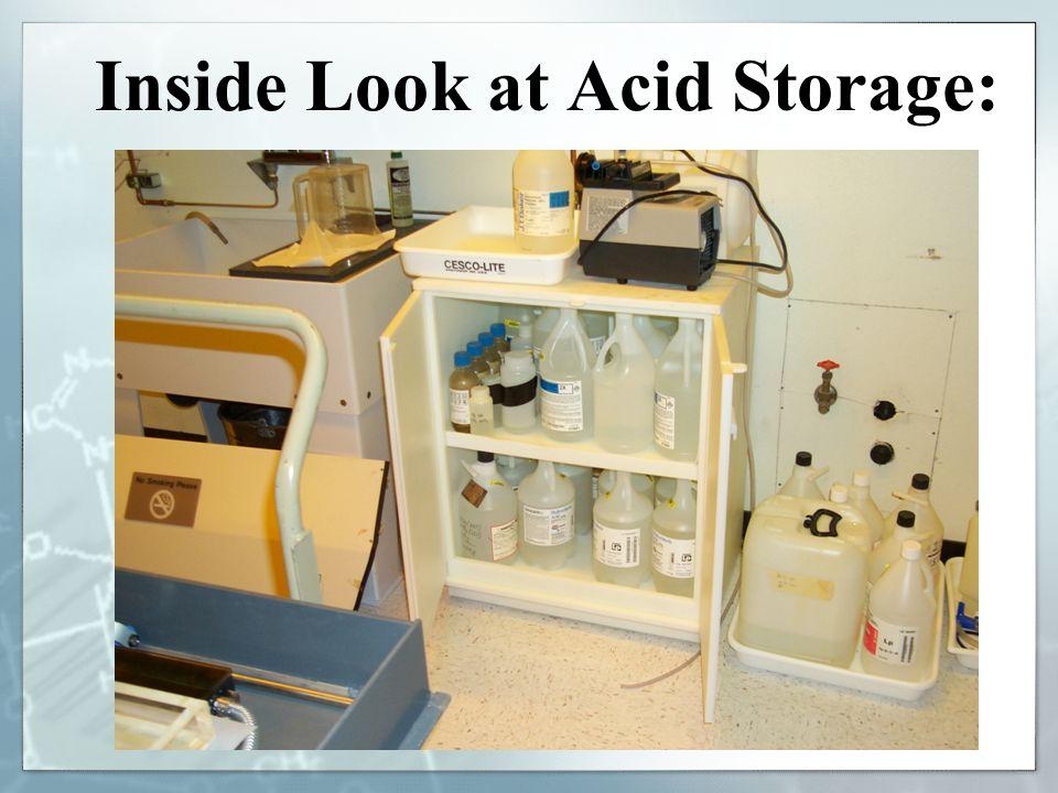 Inside Look at Acid Storage: