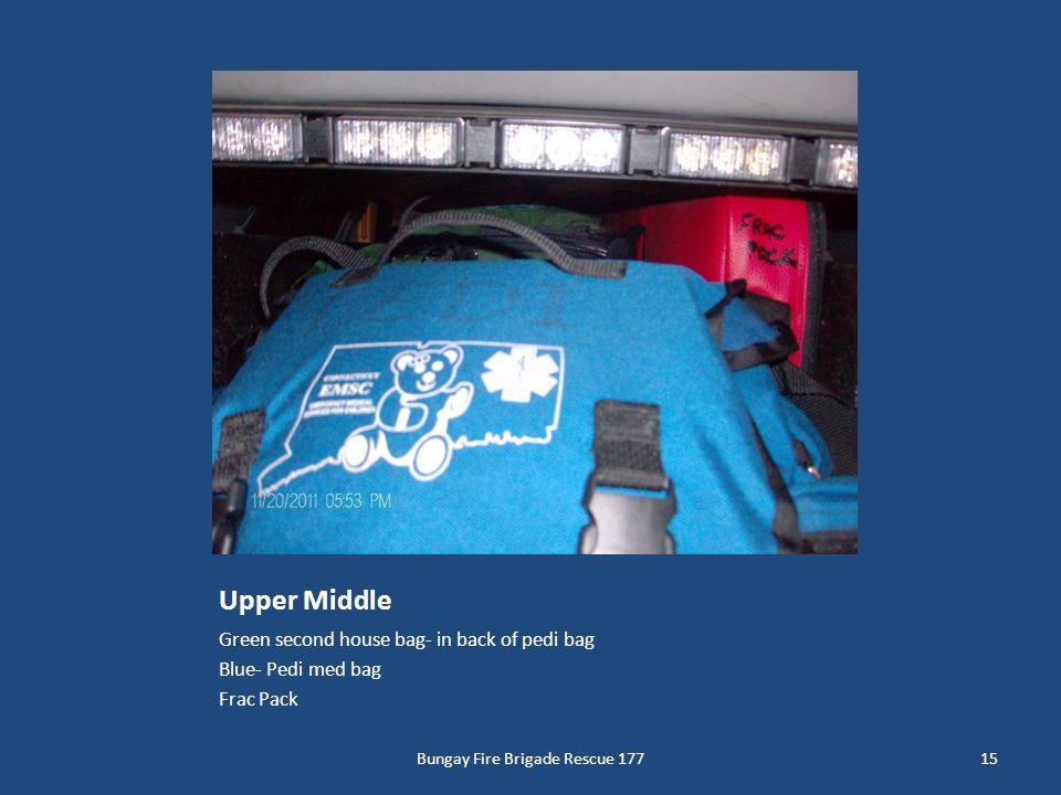 Upper Middle Green second house bag- in back of pedi bag Blue- Pedi med bag Frac Pack 15Bungay Fire Brigade Rescue 177
