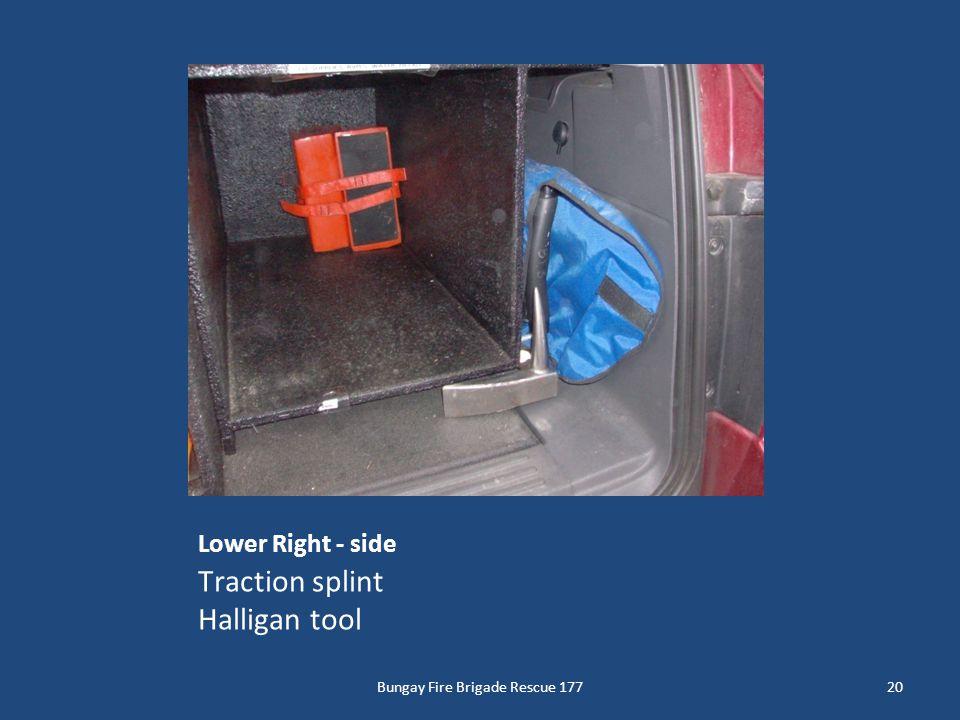 Lower Right - side Traction splint Halligan tool 20Bungay Fire Brigade Rescue 177