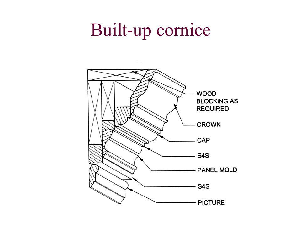 Built-up cornice