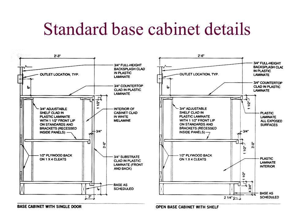Standard base cabinet details