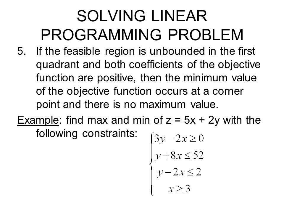 SOLVING LINEAR PROGRAMMING PROBLEM Example 3 (p.