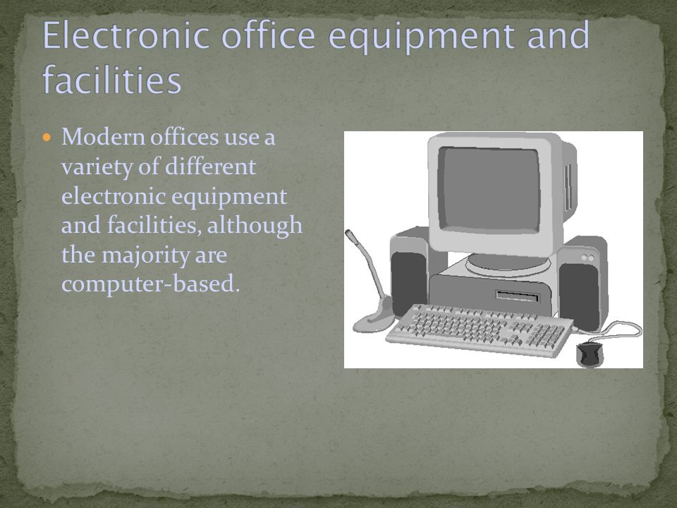 These include: Fax (facsimile) machines.Email (electronic mail).