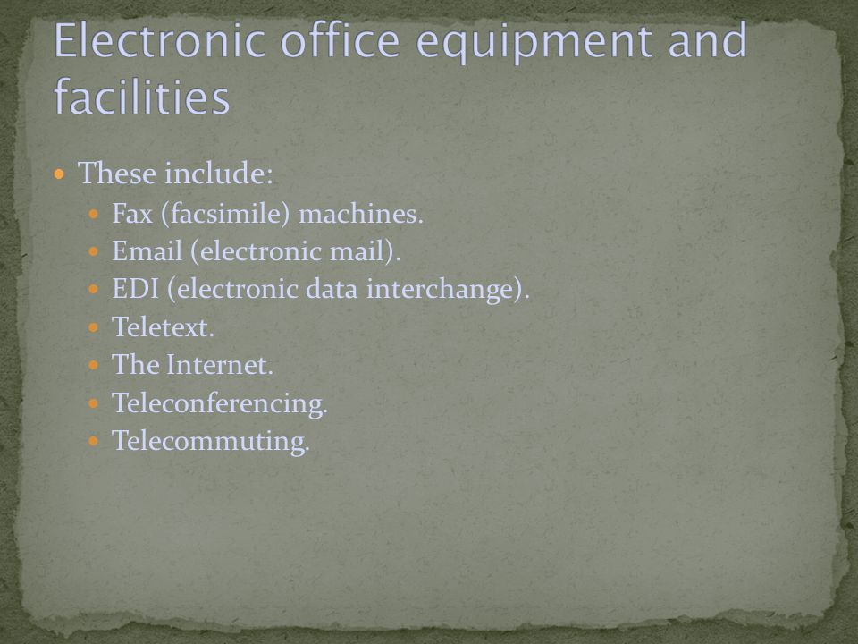 Fax (facsimile) machines scan documents and transmit digital images of them to other fax machines.