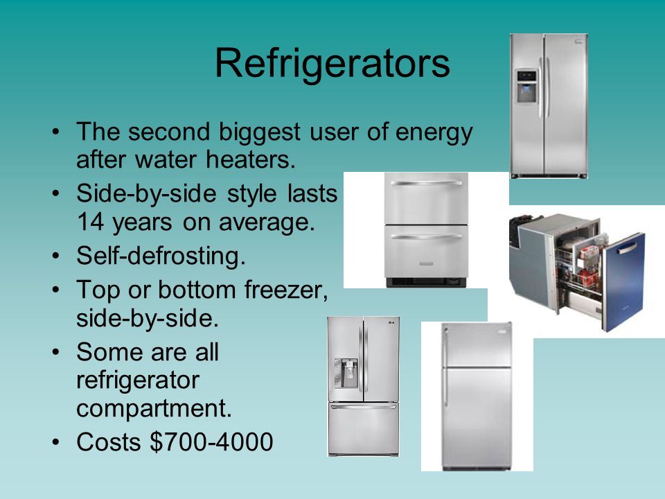Water Heaters Water heaters use more energy than any other household appliance.