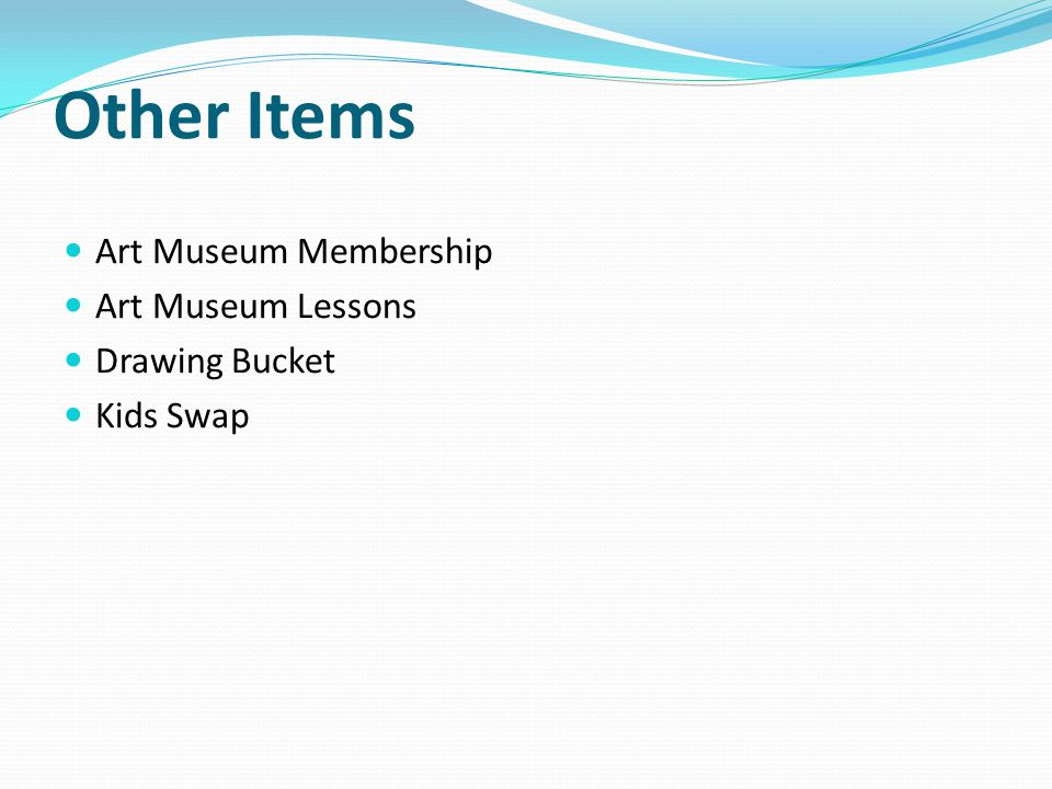 Other Items Art Museum Membership Art Museum Lessons Drawing Bucket Kids Swap