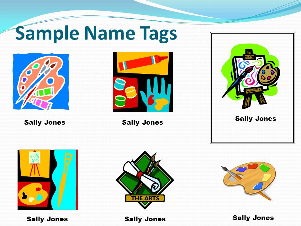 Sample Name Tags Hunter Quick Sally Jones Sally Jones Sally Jones Sally Jones