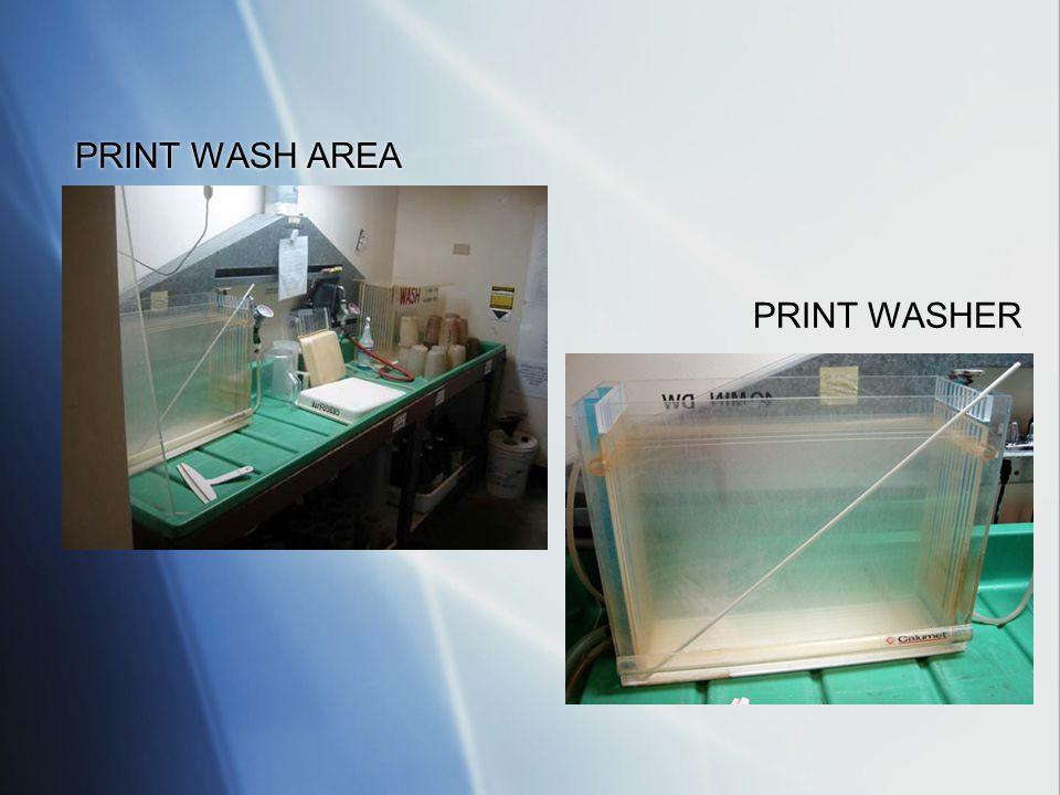 PRINT WASH AREA PRINT WASHER