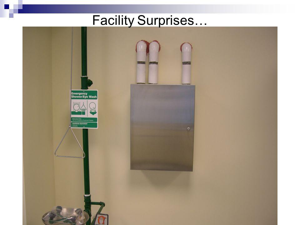 Facility Surprises…