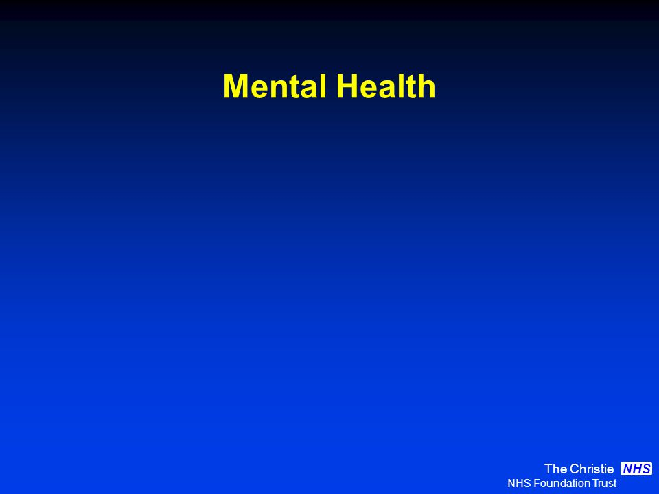 The Christie NHS Foundation Trust NHS Mental Health