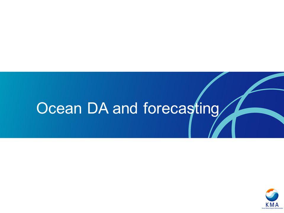 Ocean DA and forecasting