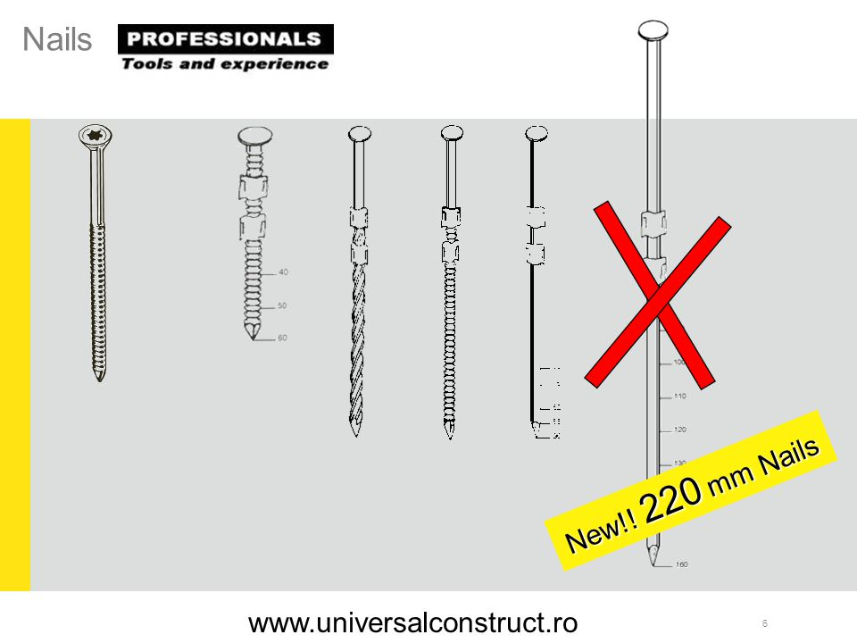 37 Applications: Fixation of metal hooks of material thickness up to 0,8 mm Serie RNC - S 25/00 RNC 50 S/W Haften Serie RNC-S 25/00 www.universalconstruct.ro