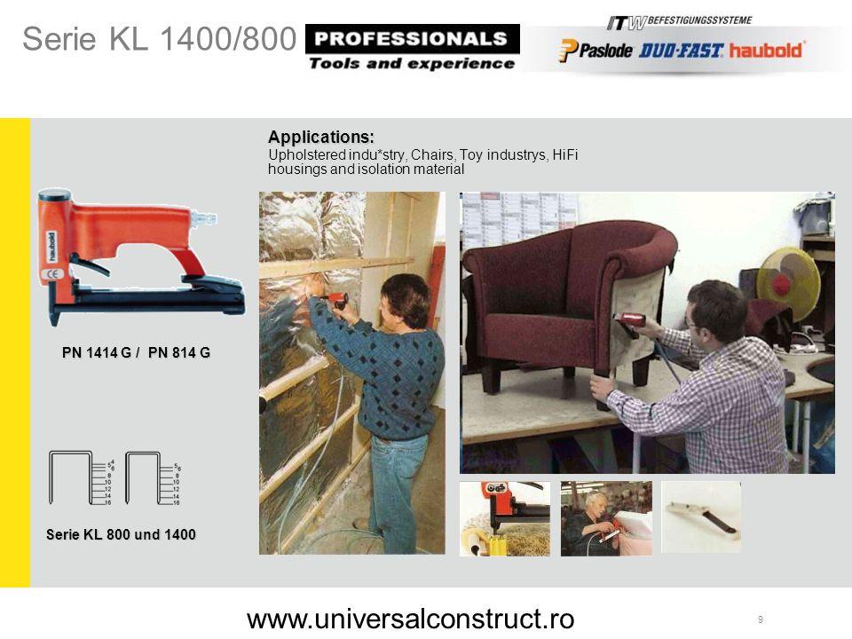 30 Applications: Doors, Schlagleisten, Laufleisten, window stripes and wall elements SKN 64 A / 20 Serie SKN 20/00 www.universalconstruct.ro