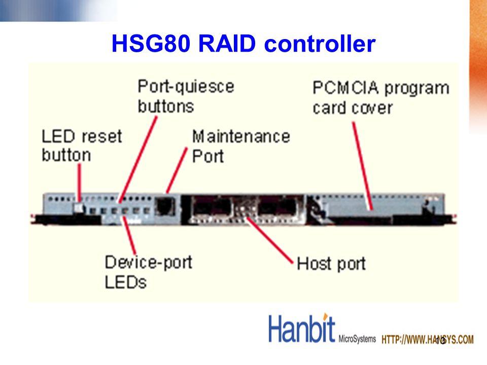 13 HSG80 RAID controller