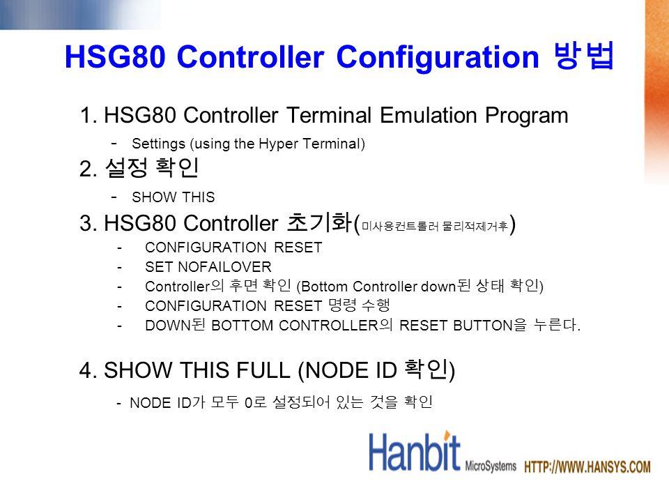 HSG80 Controller Configuration 1.