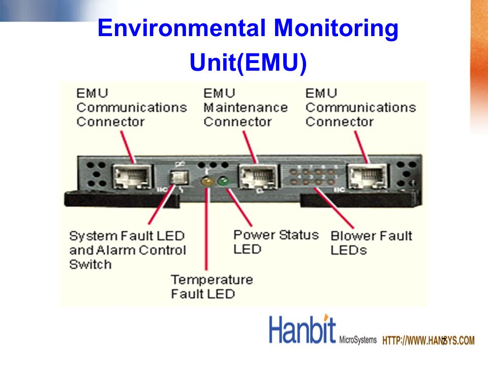 EMU Error Detection –The EMU will detect High temperature Failed disk drives Cache battery low voltage or failure Controller errors Ultra SCSI termination errors Blower failures